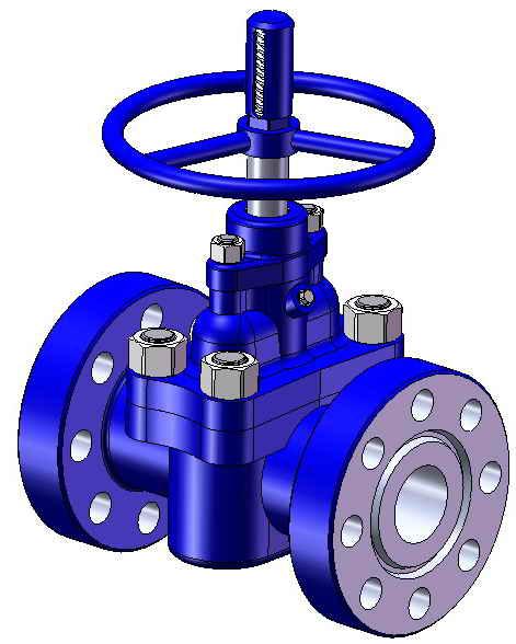 Клапан запорный проходной сальниковый, с электроприводом, импортного пр-ва